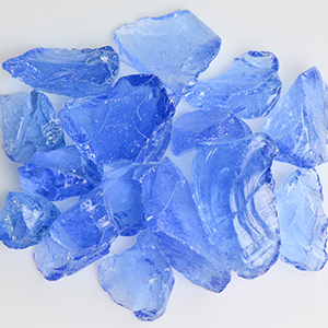 Crystal Blue Fireplace Glass