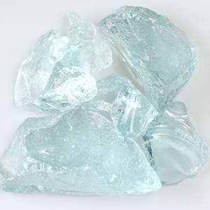 Crystal Teal Fireplace Glass