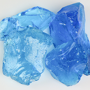 Crystal Turquoise Fireplace Glass