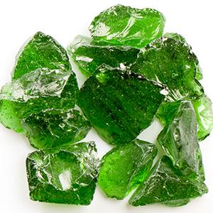 Green Fireplace Glass
