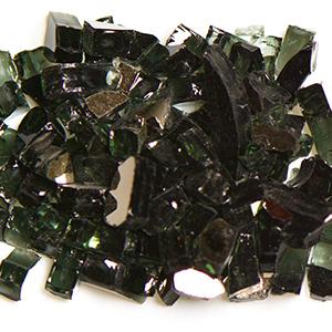 Black Reflective Fireplace Glass